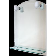 Oglinda Etajera+Lampa,Dublu 60x80 / H[mm]: 600; B[mm]: 800