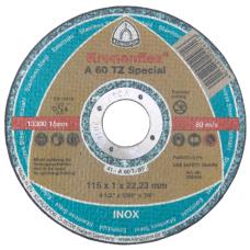Disc Abraziv Klingspor A60 TZ Special / D[mm]: 115; B[mm]: 1