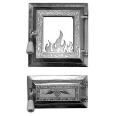Usa Soba cu Geam + Cenusar Nichelata / H[mm]: 275; B[mm]: 255
